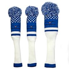 3 pièces/ensemble laine tricot Clubs de Golf Fairway couvre chef Golf Protection couvre 3 couleurs pour que vous choisissiez livraison gratuite
