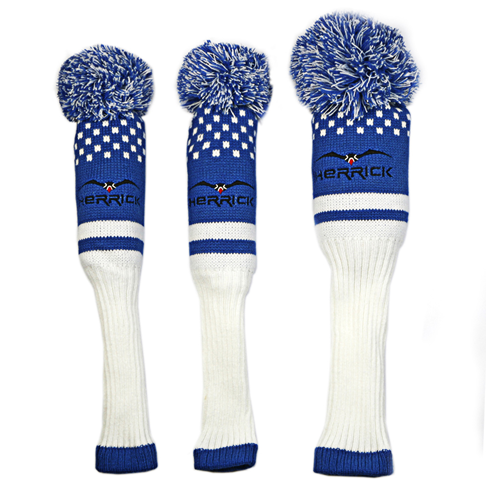 3pcs/set Wool Knit Golf Clubs Fairway Headcovers Golf