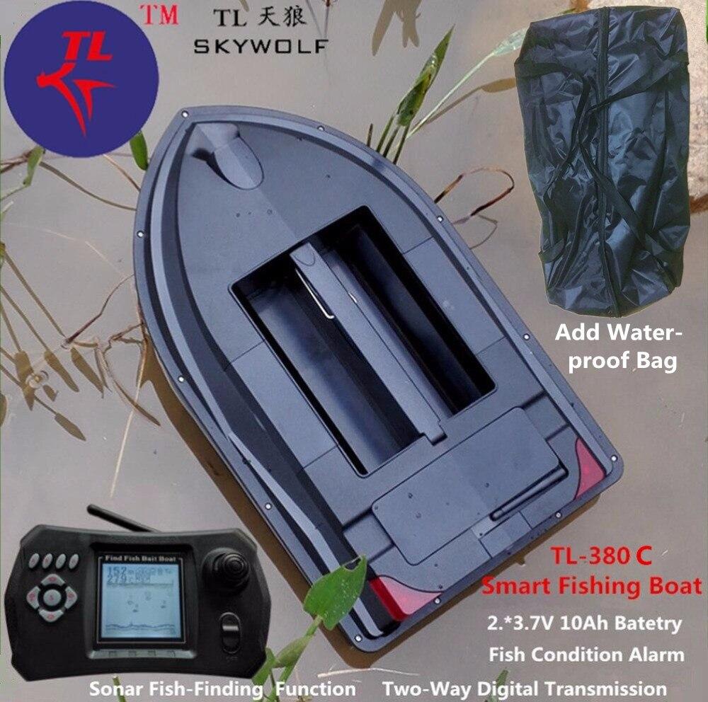 Sac gratuit Sonar sans fil poisson Finder RC bateau électrique TL-380C alimentation poisson état alarme télécommande carpe pêche appât bateau