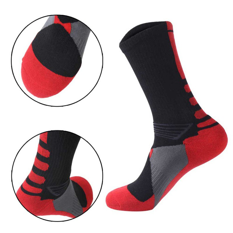 1 Pair Of Children Stocking Warm Football Socks Basketball Skidding Cycling Climbing Running Socks