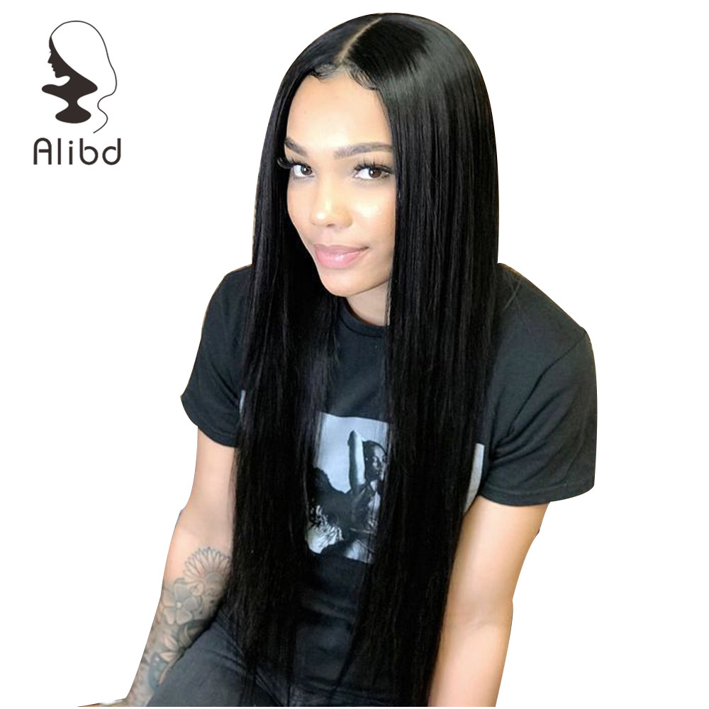 Alibd 360 Lace Frontal Wig Straight Brazilian Lace Front Human Hair Wigs With Baby Hair Pre Plucked Glueless Remy 370 Lace Wig