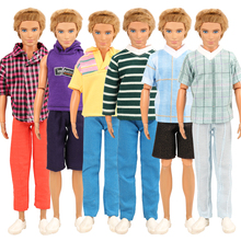 Fashion Handmade 5 items/Lot Doll Accessories Kids Toys Dolls Clothes 32 Cm Outfit For KEN Game DIY Birthday Present For Boys