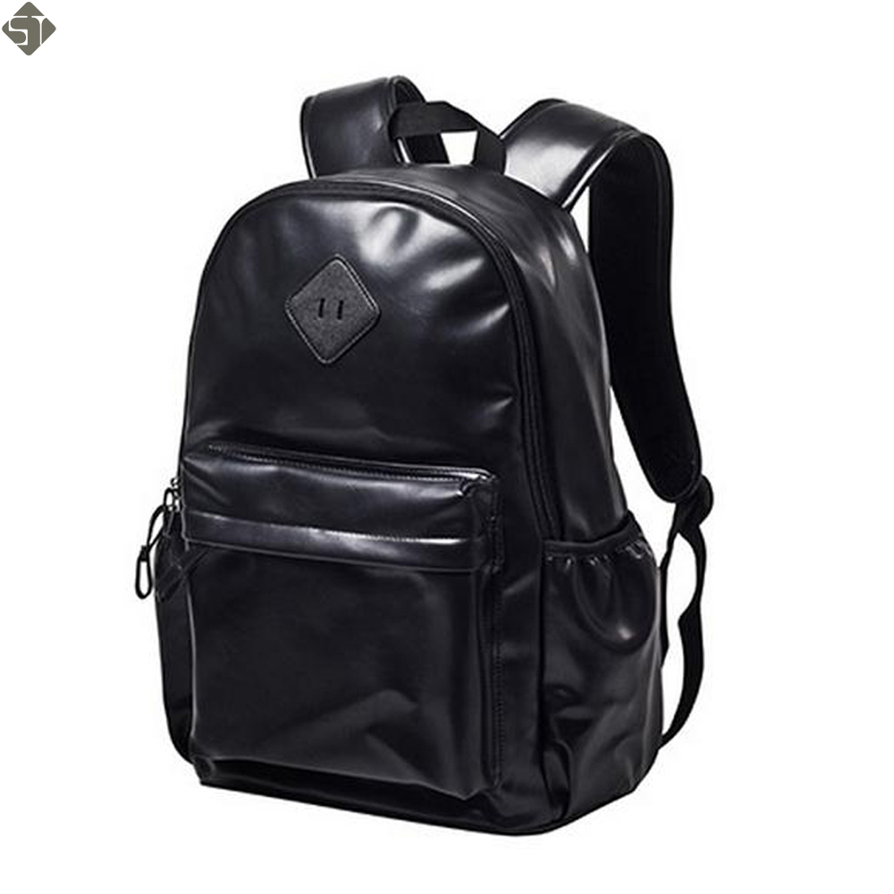 Fashion men backpack Women PU Leather Backpack School Bag Travel Bookbag Casual 15'' Laptop Bags Female Rucksack new 2017 unisex fashion denim travel backpack bags school bag rucksack casual retro lfy110