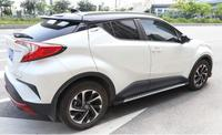 Car Aluminum alloy + ABS Running Board Side Step Nerf Bar Guard Fits For Toyota CHR 2017 2018 2019 2020 Auto Accessories