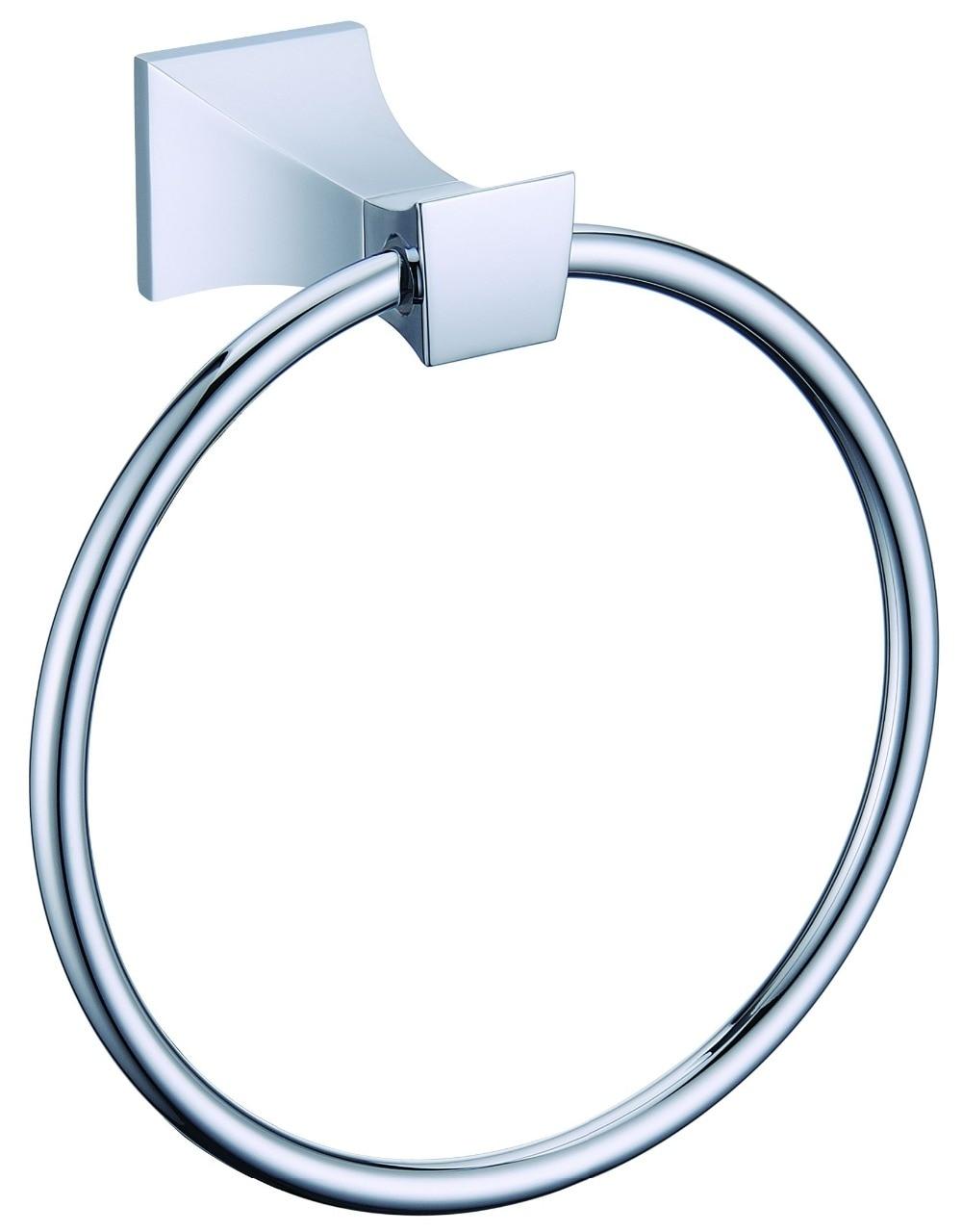 FREE SHIPPING chrome  Square design  towel ringFREE SHIPPING chrome  Square design  towel ring