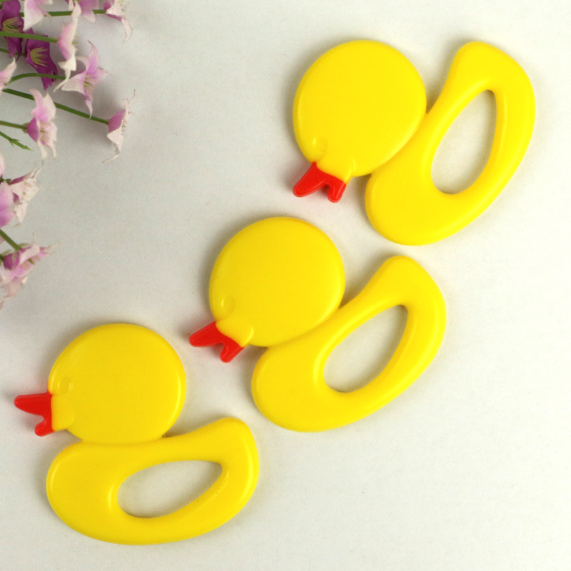 NEW Baby Teethers Children Silicone Toy Kids Rattles Child Small Yellow Duck Teether Silicone Training Toddler Infant Cute 1pcs