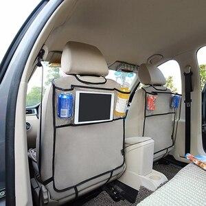 Image 5 - Car Back Seat Organizer Car Multi Pocket Back Seat Storage Bag Organizer Phone Pocket Pouch for Book Tablet Mobile Drinks Tissue