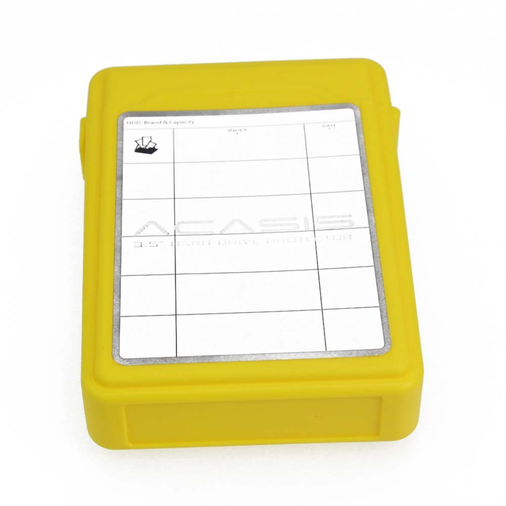 Hdd Gehäuse Computer & Büro Nett 14249tw Acasis Ac-35 3,5 Zoll Festplatte Schutz Aufbewahrungsbox Hard Cover Hdd Gehäuse Fall Farbe Gelb