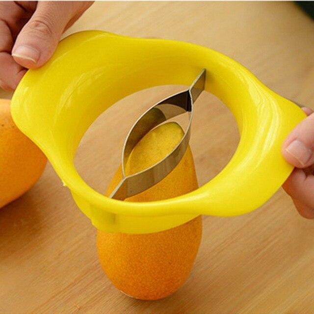 Hoomall 1 pz In Acciaio Inox Mango Cut Cucina Creativa Mango Splitter Frutta Gad