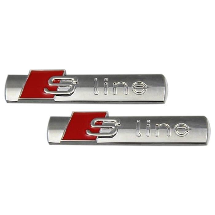 AUTO -Car decoration sticker Bright silver color Metal Emblem Car Sticker for Audi A1 A3 A4 A5 A7 Q1 Q3 Q5 Q7