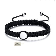 APL - popular fashion luxury brand jewelry nylon rope Black Bracelet boutique for men and women