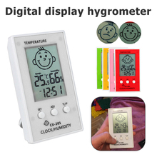 купить Digital Thermometer hygrometer LCD Clock weather station Temperature Humidity Meter Indoor Outdoor по цене 230.99 рублей