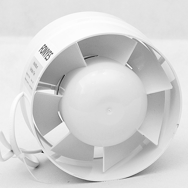 5 Inch Inline Duct Fan Ventilator Extractor Fan Ducted Exhaust Fan Ceiling  Ventilation For Bathroom Toilet 125mm 220V