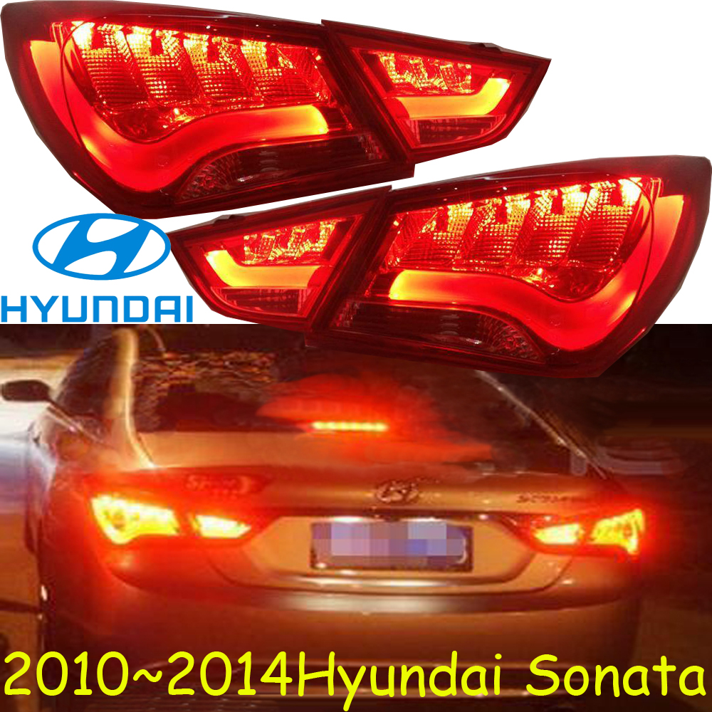 car-styling,Sonata Taillight,2011~2014,led,Free ship!4pcs,Sonata fog light;Sonata tail lamp,Chrome;Sonata car styling golf6 taillight 2011 2013 led free ship 4pcs golf6 fog light car covers golf7 tail lamp touareg gol golf 6