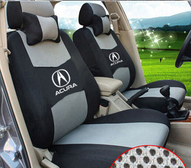 Silk And Sandwich Embroidery Logo Car Cushion For ILX TLX RL TL MDX - Acura rdx seat covers