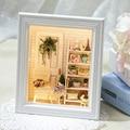 Кукольный Дом Мебель Diy Миниатюрная Рама 3D Деревянные Miniaturas Dollhouse Игрушки для Детей День Рождения Подарки Ремесло W005