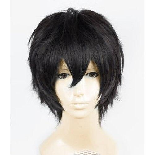 Аниме Death Note Мужской Черный Короткие вьющиеся Косплэй парик Показать и вечерние и производительность волос полный парики
