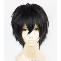 Anime Death Note Male Black Short Curly Cosplay Wig Show Party Performance Hair Full Wigs