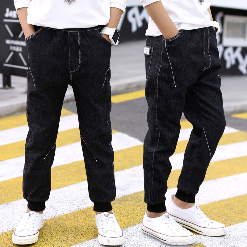 FYH Kids Clothing Boys Pants Children Boys Casual Jeans Spring Autumn Boys Jean Pants Teenager Boys Denim Trousers Full Length autumn women fashion jeans high waist button denim jeans full length pencil pants feminino trousers