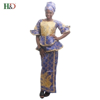 Free Shipping 2016 New Fine Craft Production African Bazin Riche Dress For Women 100 Cotton
