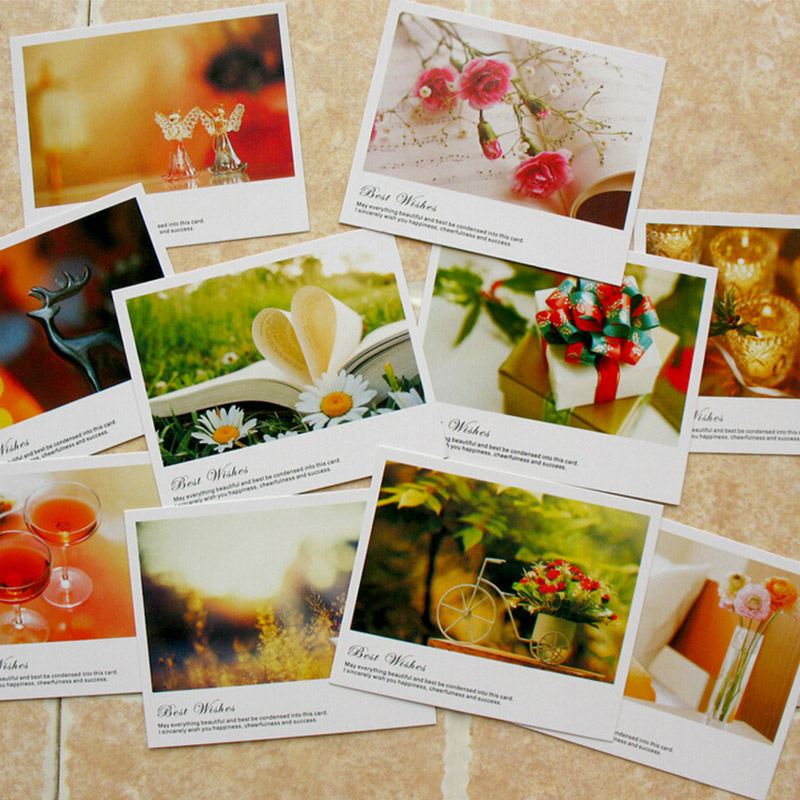 10 pcs/lot kawaii mini paper postcard birthday greeting card tank you message card LOMO gift cards 11*9cm ...