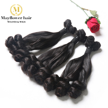 2pcs duchess curl Aunty Funmi Virgin Hair extensions Natural color double drawn silky and bouncy curl Produced by Mayflower