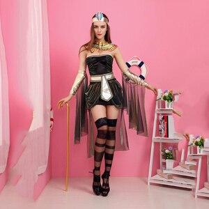 Image 5 - Disfraces de California para mujer, disfraz de diosa egipcia, disfraz de adulto de Cleopatra, Egipto, disfraz de Cosplay para Halloween, vestido de reina de Egipto