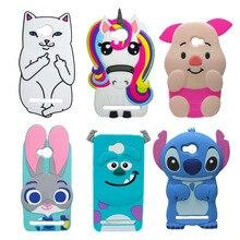 Cute Cartoon Phone Case For Huawei Y3II Y3 II 2 Back Cover For Huawei Y3 ii 3D Stitch Batman Unicorn Sulley Minions Silicon case смартфон huawei y3 ii 3g 8gb black
