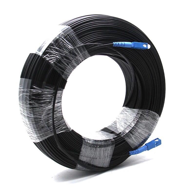 FTTH Drop Cable Fiber Optic Patch Cord SC to SC Simplex Singlemode SC SC 50 Meters SM Fiber Optic Jumper