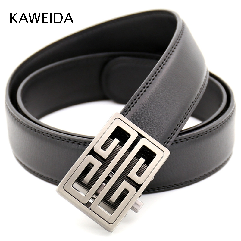 KAWEIDA 2018 Designer   Belts   Fashion Cowskin Split Leather Famous Luxury Brand Cloud Automatic Buckle Waist   Belt   for Men's Kemer