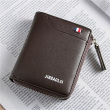 Luxury Brand Men Wallet Leather Credit Card Holder Wallets Zipper Male