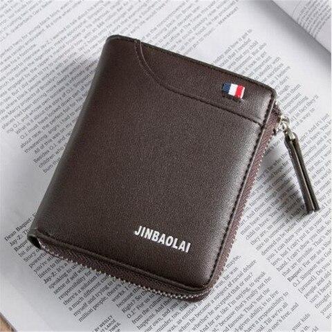 Luxury Brand Men Wallet Leather Credit Card Holder Wallets Zipper Male Coin Pocket Clutch Money Bag Wallets Carteira Masculina Pakistan