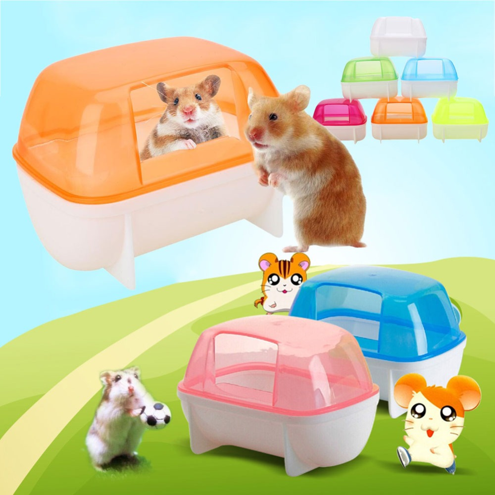 Small Hamster Bathroom Sauna Small Pet Trumpet Bathroom Sauna Activity Room Toilet Bathroom Bathtub Small Pet Assessories