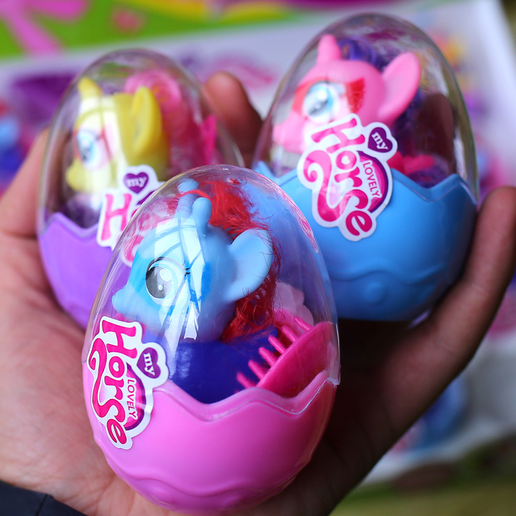 1 Random Delivery New Best Selling Cartoon Doll Model Pony Egg Decoration Ornament Toy