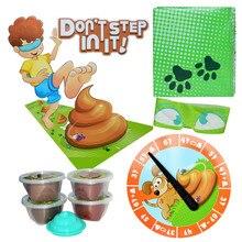 «Не шагайте в нем» Избегайте протекать какашки игры с завязанными глазами какашки-Избегайте детей забавная игра с завязанными глазами какашки для семейного веселья