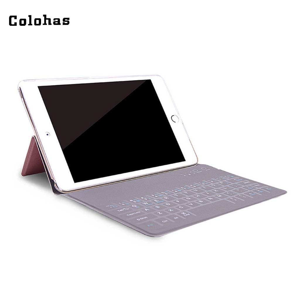 Wireless Bluetooth 3 0 Mini Keyboard Rechargeable Keypad PU Leather Case For IPad Mini 7 9