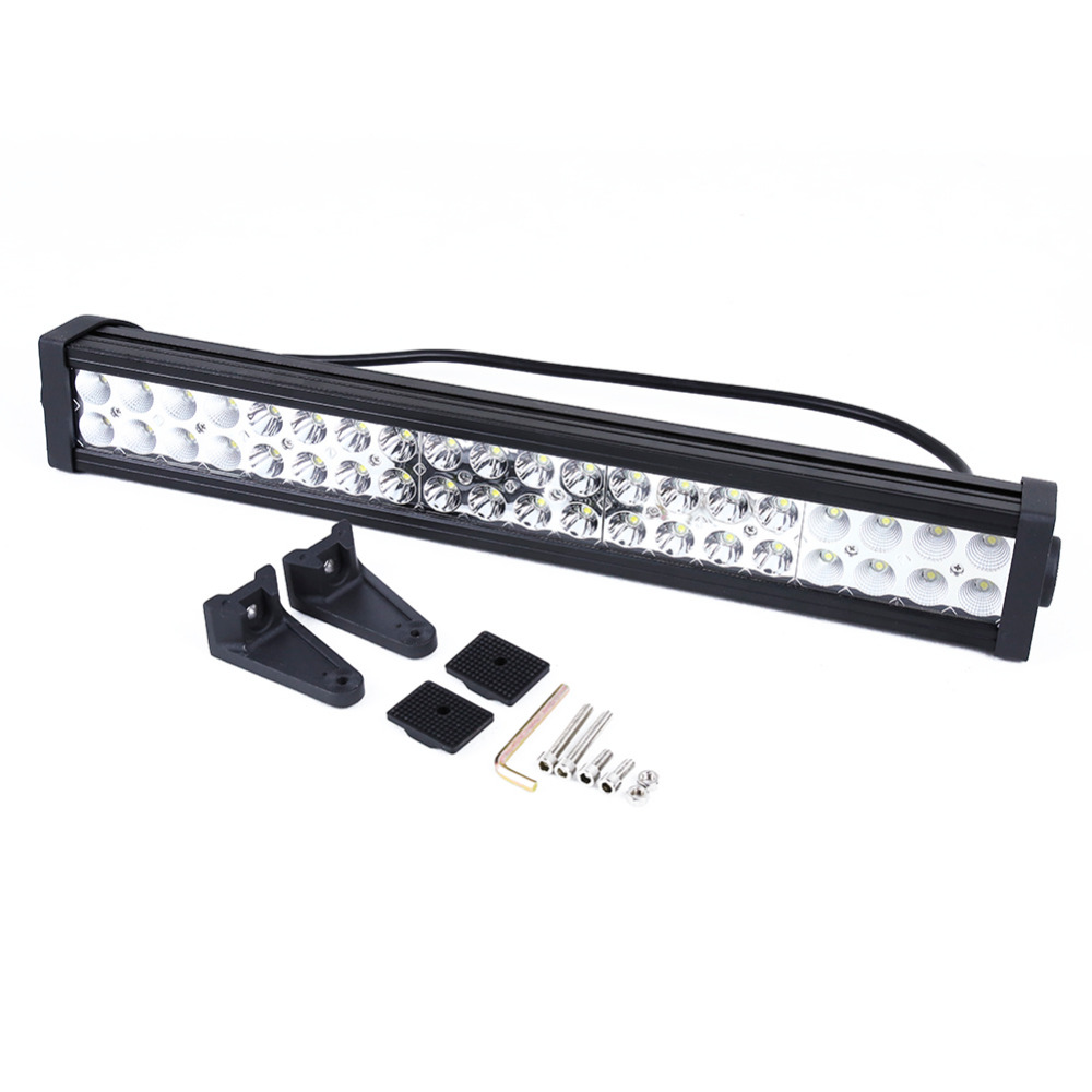 Oversea 120W 21 LEDs Light Alloy Work Bar Offroad Flood Spot Combo Light Lamp 4WD Boat