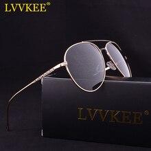 Lvvkee marca 2017 de alta calidad hd polarized aviator gafas de sol de los hombres/mujeres espejo de conducción gafas de sol de piloto 62mm de gran tamaño