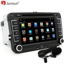 "Junsun 7 ""2 DIN автомобильный DVD GPS Радио Android 6.0 1024*600 Bluetooth FM для Volkswagen VW гольф 5 6 Touran Passat аудио стерео"