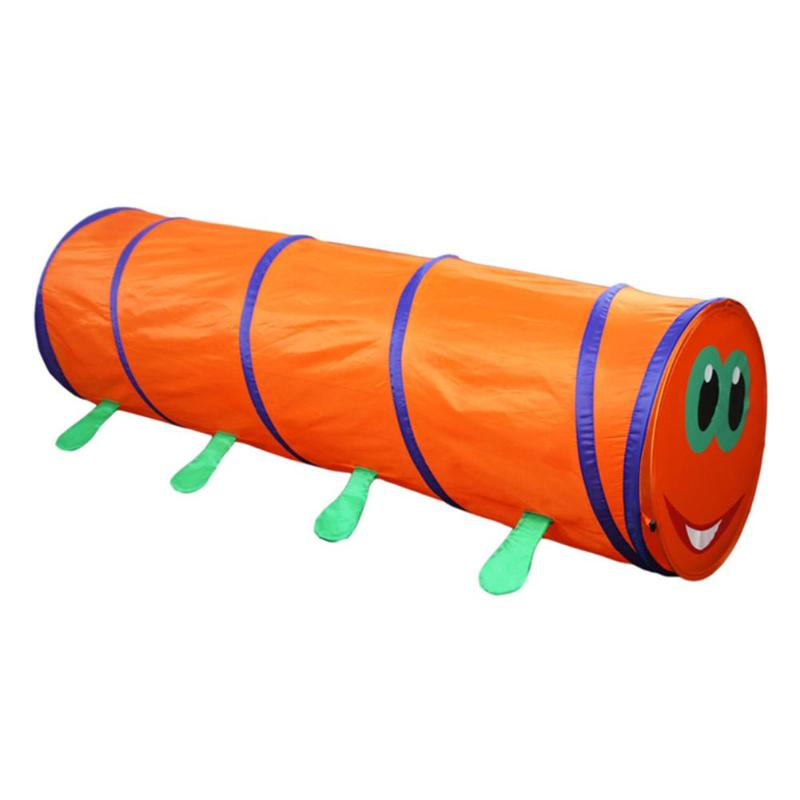 180cm Portable Kids Crawling Tunnel Tent Playing House Folding Indoor Outdoor Pop up Discovery Game Crawl Tube Tent
