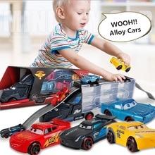 New Diecast Metal Alloy model Toys Diecast Metal truck Hauler with 6 small Pixar Cars 3 Jackson Storm Mater Cruz Ramirez Gift