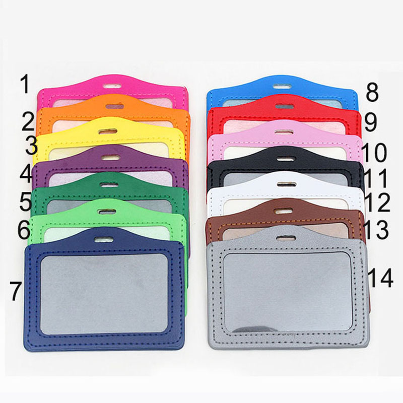 27 Colors PU Card Holder Badge Holder & Accessories Hospital Nurse School Entrance Guard Card & Chest Card Transverse Style