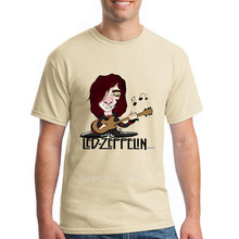 Jimmy Page of Led Zeppelin Funny Famous Guitarist T-shirts 2017 Men's Short Sleeved Fashion Tees Oversize Father's Day Shirts