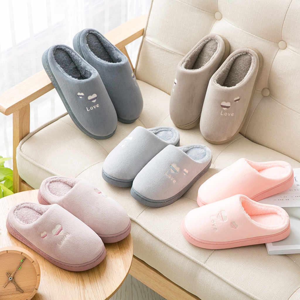 Mens frauen schuhe 2019 Paare Warm Non-slip Boden Zu Hause Hausschuhe Indoor Schuhe Schlafzimmer zapatos de mujer tacon bajo # y3