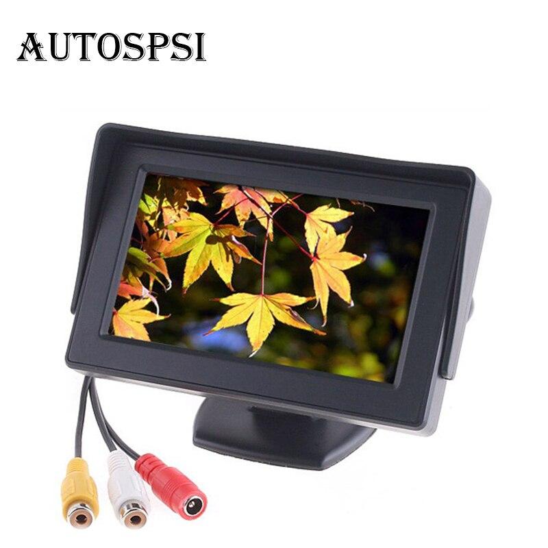 """Автомобиль Мониторы 4.3 """"Экран для заднего вида Камера TFT ЖК-дисплей Дисплей HD цифровой Цвет 4.3 дюймов PAL/ NTSC"""