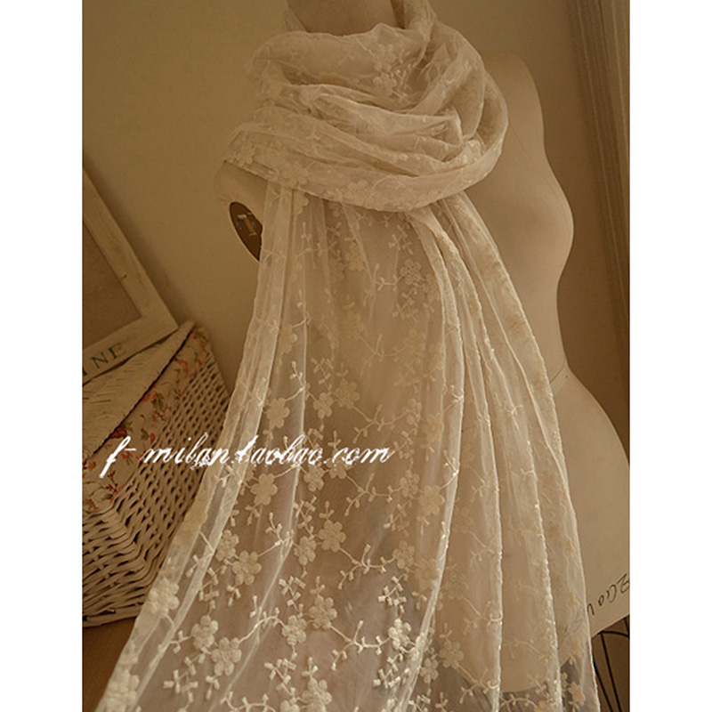 Free Shipping Women Scarf Lace Cotton Sc