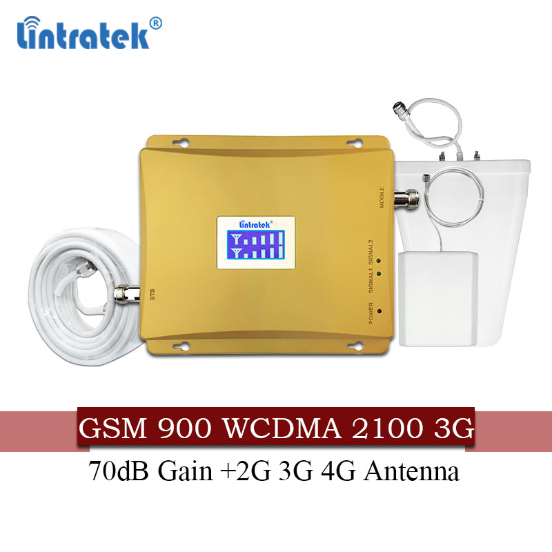 Lintratek russie 900 3G UMTS 2100 amplificateur de Signal cellulaire répéteur GSM 2g 3g 900/2100 Mhz amplificateur de téléphone portable double bande #60