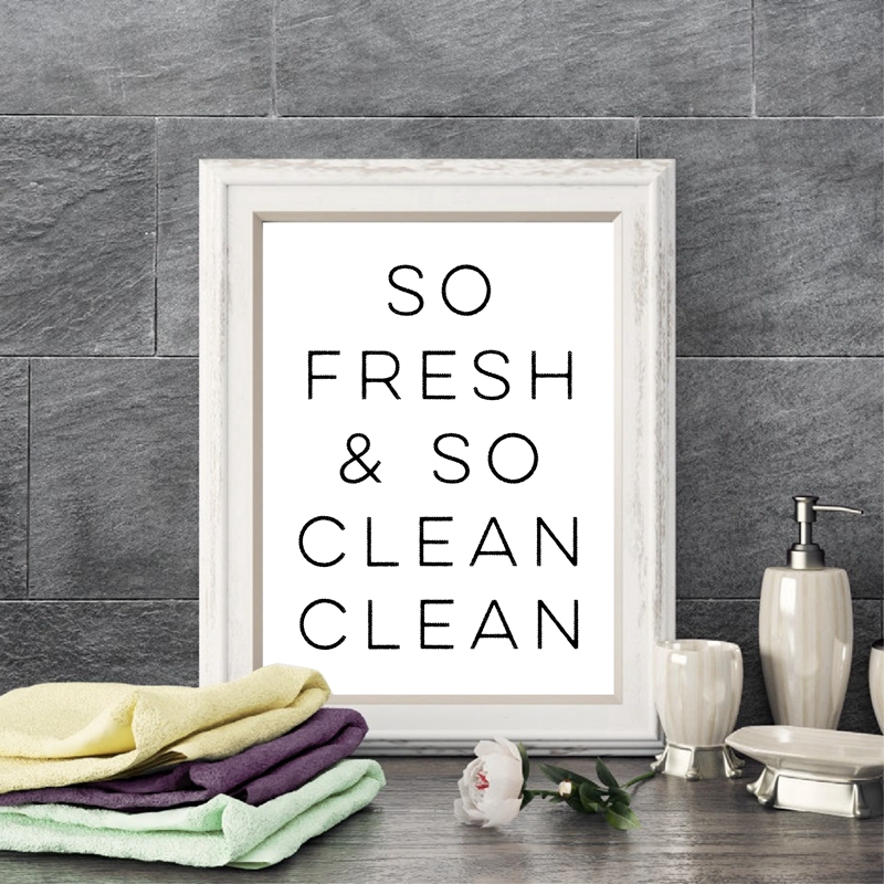 So Fresh and So Clean Bathroom Wall Art Canvas Prints ...