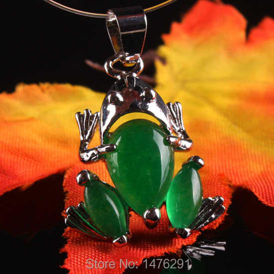 16X29 MM Imitação de Pedra Verde Jade Talão Sapo Pingente 1 PCS