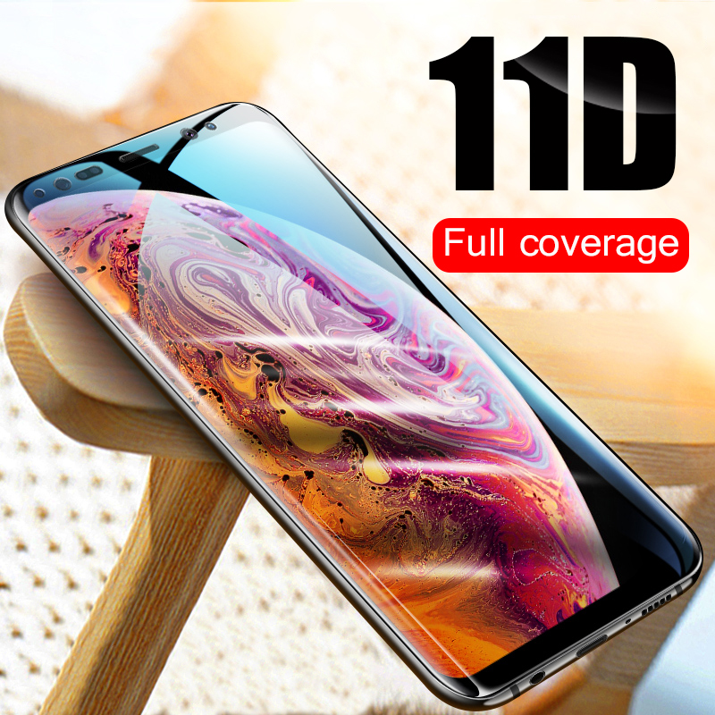 11D Curved Tempered Glass on the For Samsung Galaxy S9 S8 Plus Note 8 9  Screen Protector For S6 S7 Edge Protective Glass Film
